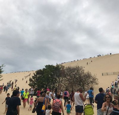 Crowds at Europe's biggest sand dune.