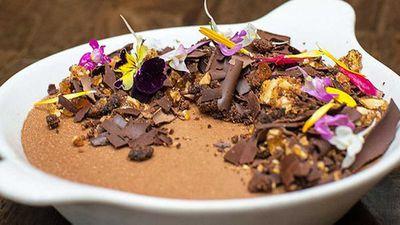 <strong>Caramelised chocolate pot de crème</strong>