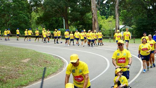 The 160km journey is underway for those who can no longer walk (Save our Sons Duchenne Foundation)