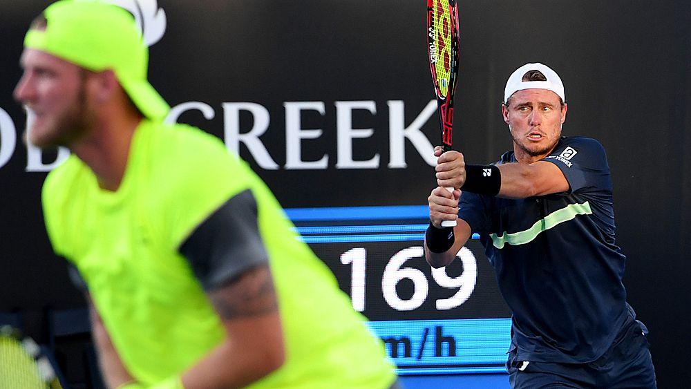 Australian Open: Lleyton Hewitt, Sam Groth win through in doubles second round