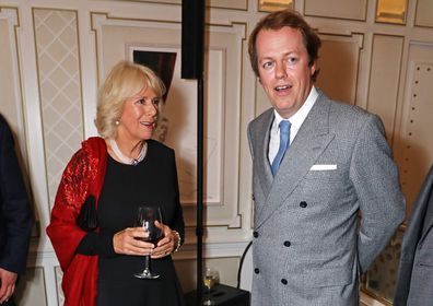 Camilla with her son Tom at a book launch in 2016.