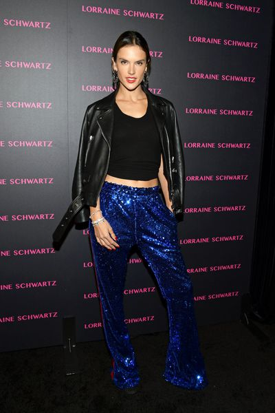 Alessandra Ambrosio at Lorraine Schwartz 'The Eye Bangle' for Against Evil Eye Collection launch in Los Angeles