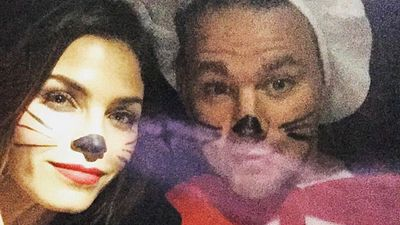 Channing Tatum and his wife Jenna Dewan-Tatum went to an LA event dressed in Cat in the Hat get-up. (Facebook)