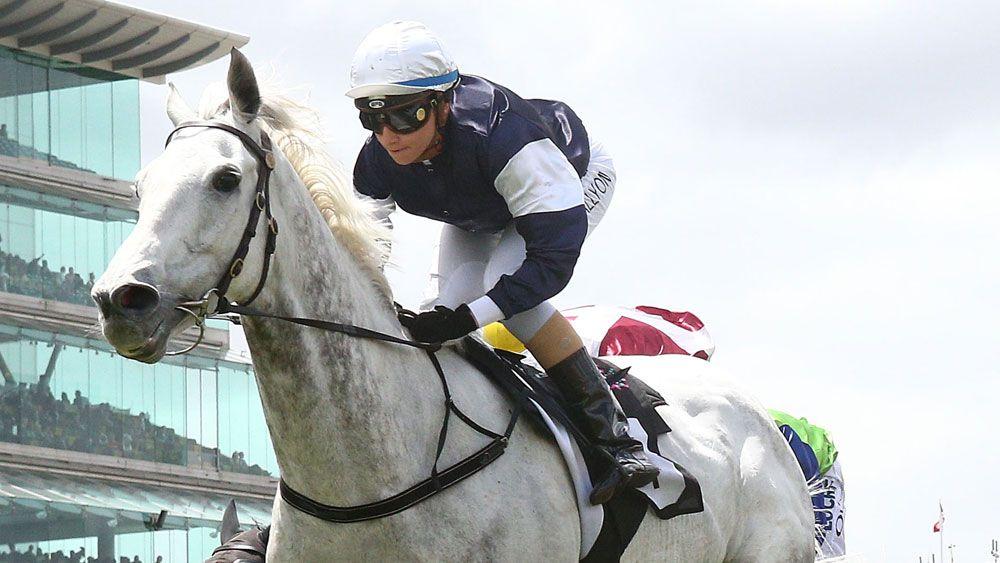 Little White Cloud scored a strong win at Flemington, (AAP)