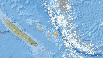 "The Pacific Tsunami Centre is warning of ""possible"" hazardous waves near New Caledonia (Image: US Geological Survey)"