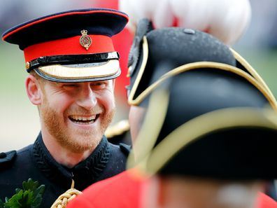 Duke of Sussex attends, as reviewing officer, the annual Founder's Day Parade at the Royal Hospital Chelsea on June 6, 2019 in London, England.