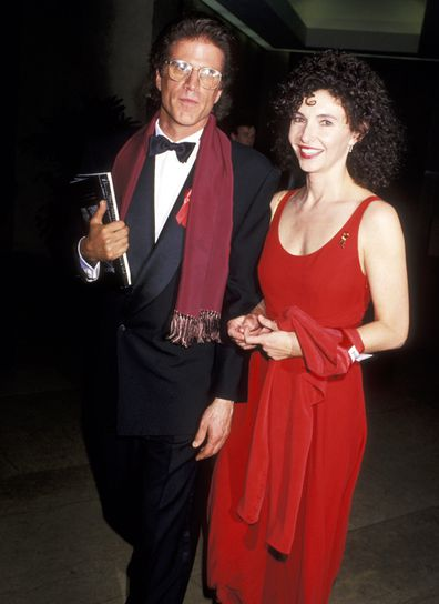 Ted Danson e Mary Steenburgen durante um de seus primeiros avistamentos como casal em 1994