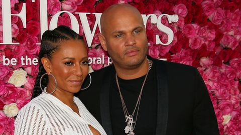 Mel B and producer Stephen Belafonte arrive at the Open Roads World Premiere Of 'Mother's Day'.