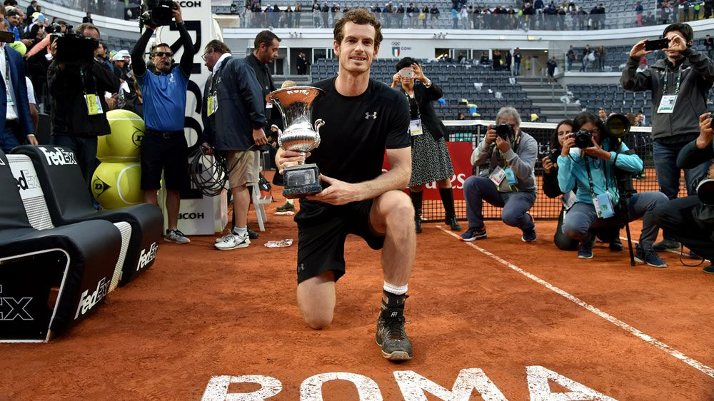 Andy Murray with his Italian Open trophy. (AFP)