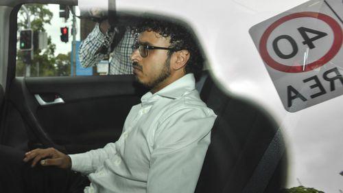 Arsalan Khawaja outside Parramatta Police Station.