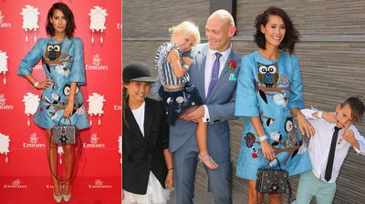 Michael Klim and Lindy Klim along with their children Stella, Frankie and Rocco. (Getty)