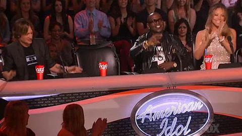 Watch: Nicki Minaj turns up late to first <i>American Idol</i> live show - Mariah's not happy