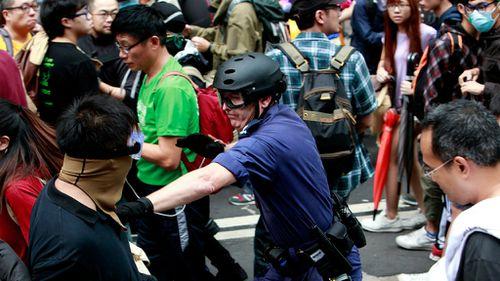 Hong Kong police arrest protest movement leaders