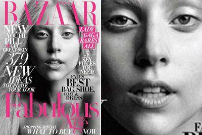 The pop star showed a stripped-back look for <i>Harper's Bazaar</i> in October 2011.