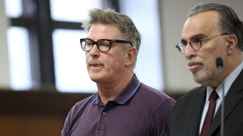 Baldwin appeared in a New York court on Monday after being accused of striking a man in the face over a parking space.