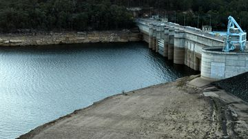 The drought continues to impact New South Wales water levels at Warragamba Dam