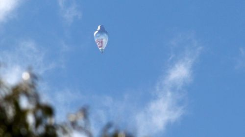 The balloon floats over Western Australia today. (AAP)