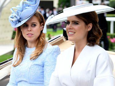Princess Beatrice and Princess Eugenie at Royal Ascot 2019
