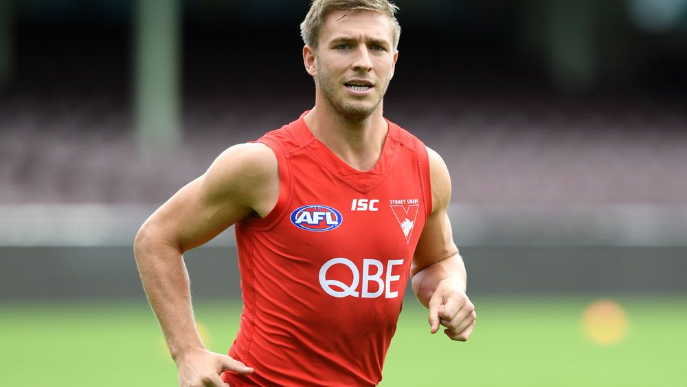 Sydney Swans captain Kieren Jack won't be rushed back to face Hawthorn. (AAP)
