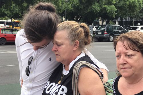 Julie Kelbin, the mother of Jack Hanley, who died earlier this month during a violent altercation, leaves court today. Picture: AAP