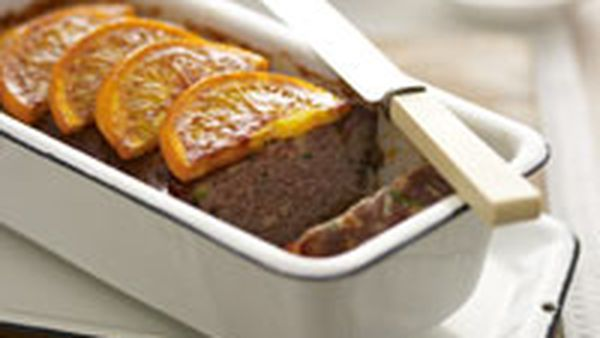 Orange glazed meatloaf