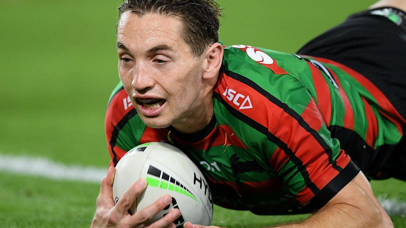 Cameron Murray scores during South Sydney's semi-final win over Manly.
