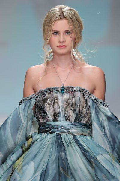 Mason Grammer, 15, daughter of Kelsey Grammer, on the runway for Malan Breton at New York Fashion Week September 2017.