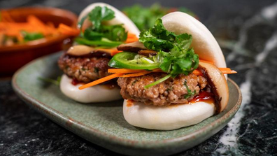 Impossible Foods' plant based pork sausage bao buns