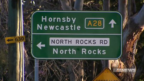 A right turn lane is being put in at North Rocks Road. Picture: 9NEWS