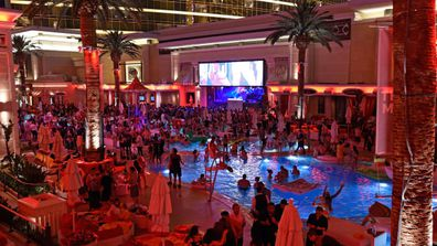 The party keeps rages at this swimming pool turned night club.