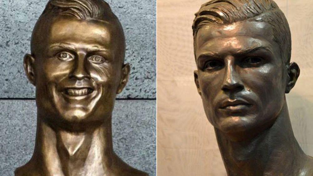Football: New Cristiano Ronaldo sculpture far better than last bust