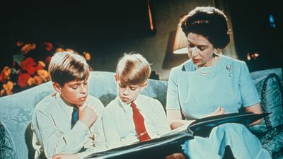 Queen Elizabeth with Prince Andrew and Prince George, 1971