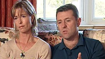 Kate and Gerry McCann, the parents of the missing girl Madeleine McCann, appear in a Spanish TV interview for Antena 3 channel in Madrid in 2007.