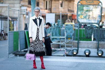 Samantha Angelo wearing Gucci outside Dries Van Noten, Paris Fashion Week