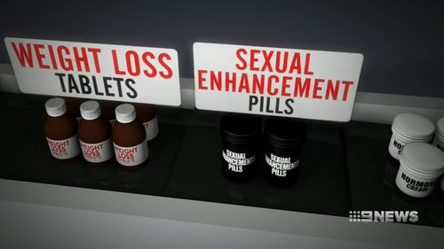 The TGA found imports such as those pictured contained prohibited substances.