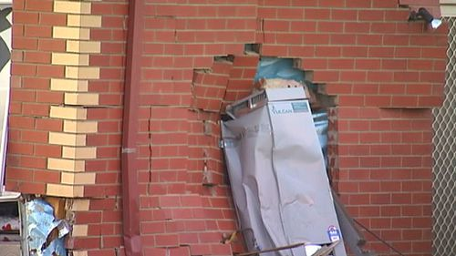 A nearby building was damaged. (9NEWS)