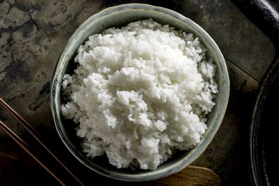 Rice: Steamed or boiled