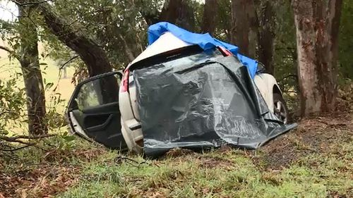 The 18-year-old female driver died at the scene. (9NEWS)