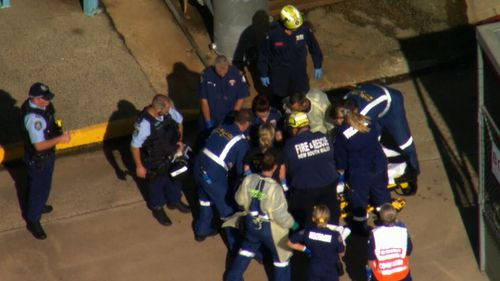 A man's leg became trapped in machinery at a property in Tahmoor.