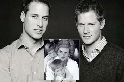 Prince William and Prince Harry have got their mum's good looks...