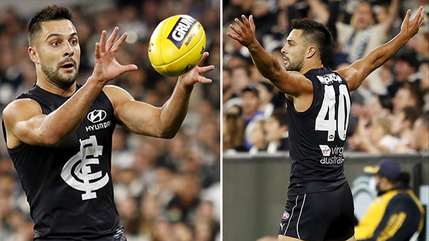 Carlton's Michael Gibbons stuns MCG crowd with two brilliant first-half goals