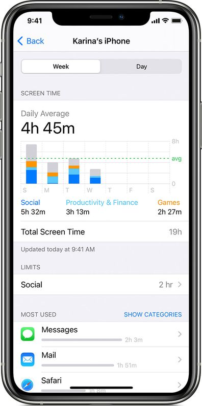 The Screen Time feature can be found under settings.
