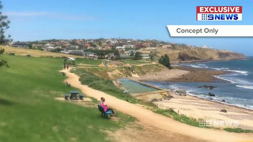 A concept image of the proposed sea pool. (9NEWS)
