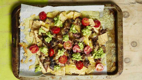 Lamb nachos