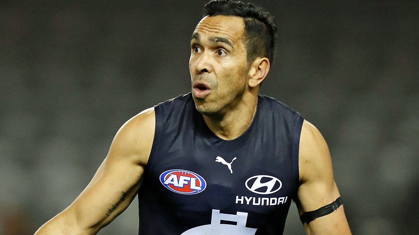 Eddie Betts of the Blues in action