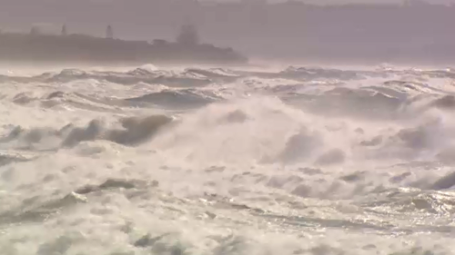 Beaches along the Gold Coast are closed with strong winds creating dangerous conditions along the east coast.