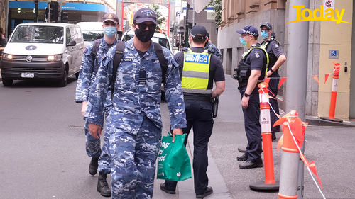 ADF workers enter hotel quarantine in Melbourne. Only use for Today
