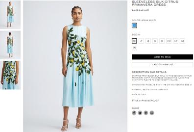 The Citrus Primavera Dress and it retails for AUD$$4,053.45.