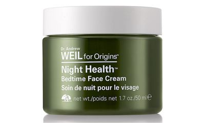 "<a href=""http://www.selfridges.com/AU/en/cat/origins-night-health%E2%84%A2-bedtime-face-cream_332-85076694-07AL01/?cm_mmc=PLA-_-GoogleAU-_-Beauty-_-ORIGINS&ci_src=18615224&ci_sku=71573861&$$&_$ja=tsid:78441%7ccid:366307100%7cagid:24632255180%7ctid:pla-77805213155%7ccrid:85481582660%7cnw:g%7crnd:16036640813276189762%7cdvc:c%7cadp:1o1"" target=""_blank"">Night Health Bedtime Face Cream, $90, by Dr. Andrew Weil for Origins</a>"