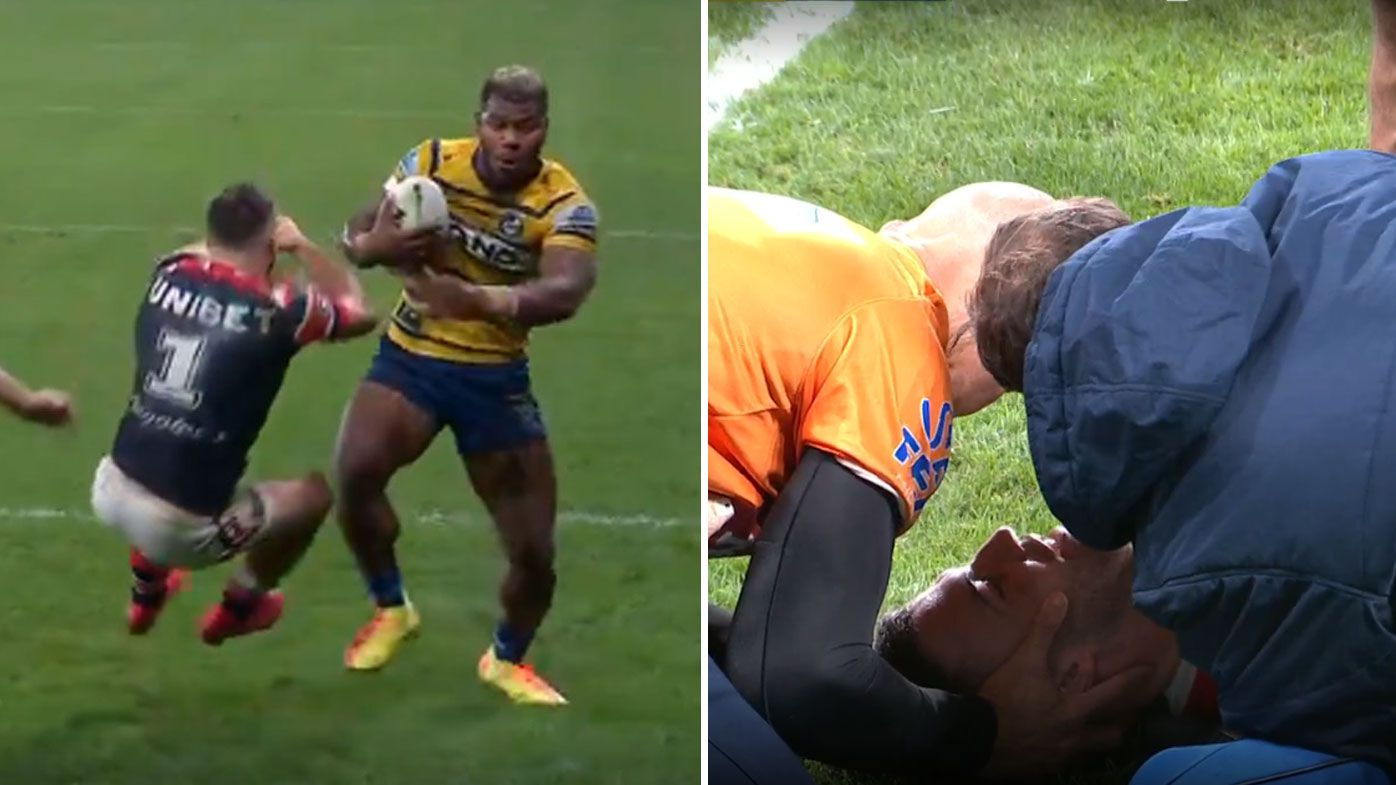 'Call an ambulance, maybe a priest': Maika Sivo bodies James Tedesco en route to Eels stunner